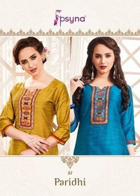 COTTON SILK FABRIC PARTY WEAR KURTI