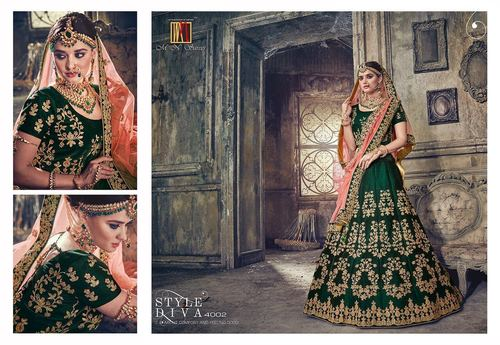 Heavy Designer Party Wear Lahenga Saree