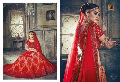 Heavy Bridal Designer Wedding Lahenga Saree