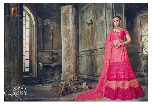 Heavy Bridal Designer Party Wear Lahenga Saree