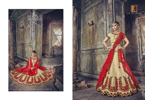 Indian Heavy Bridal Wedding Lahenga Style saree