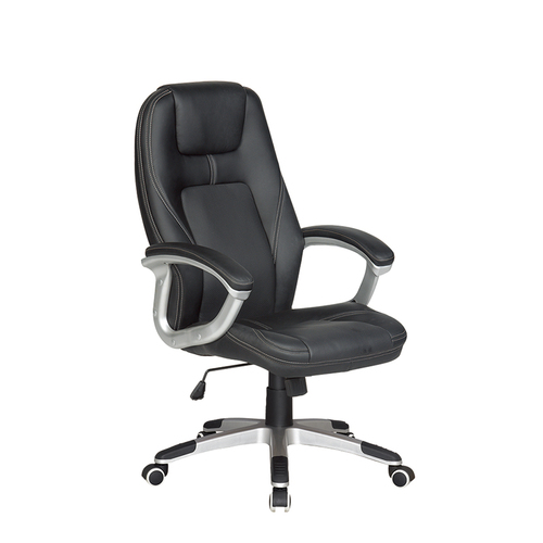 Mif Black Leather High-Back Executive Chair