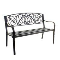 Industrial 3 seater metal garden or patio bench