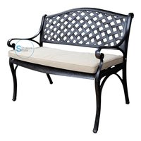 Metal garden bench or outdoor bench