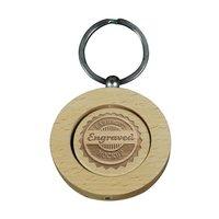 Engraving Keyring-Round-Wooden