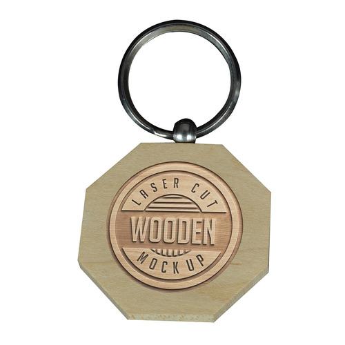 Engraving Keyring-Octagonal-Wooden