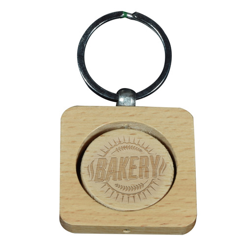 Engraving Keyring-Square-Wooden
