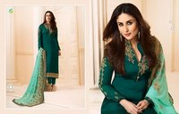 GEORGETTE AND SATIN FABRIC WORK SUITS