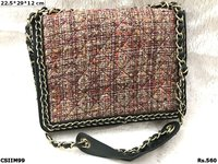 imported Tartan Wool Sling Bag