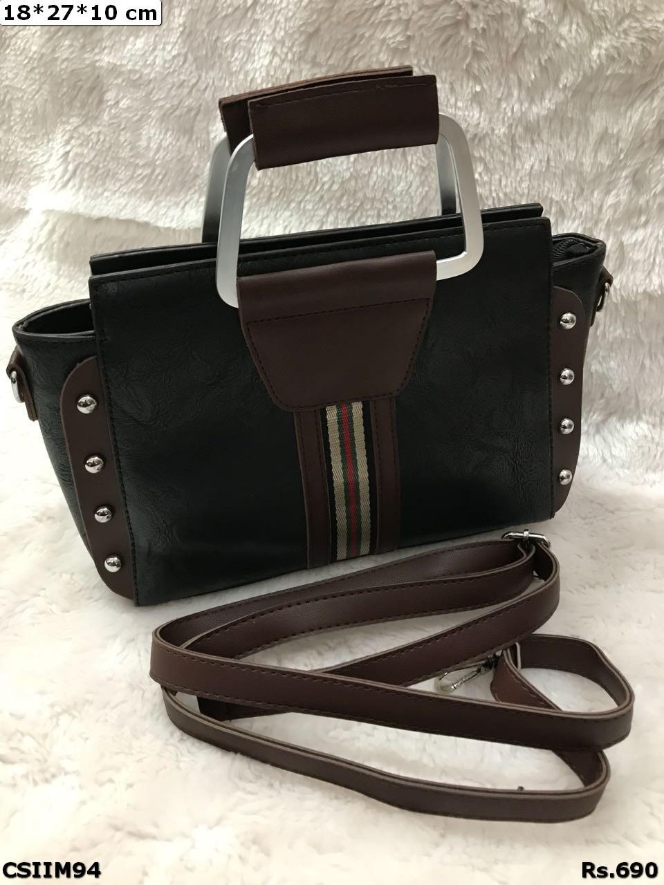 Pu Imported Colourful Handbag