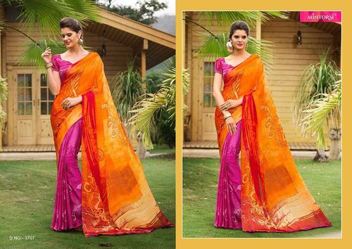 Indian Designer Digital Printed Saree