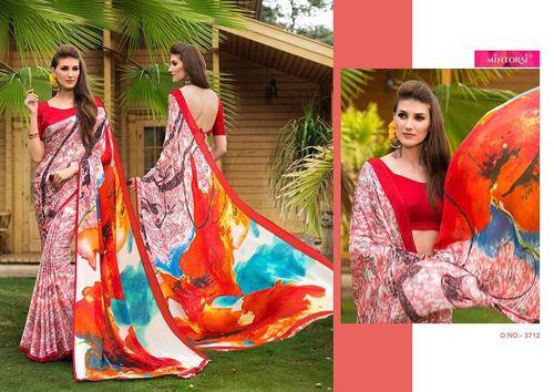 Designer Printed Casual Saree