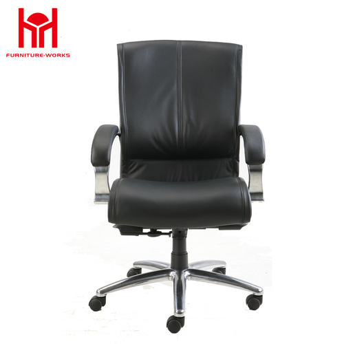 MIF Executive Bonded Leather Office Chair - Black