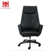 MIF Office Factor Black Bonded Leather Modern Executive Managers Office Chair