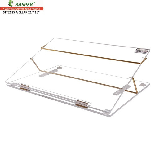 Rasper Acrylic Writing Desk Clear (Standard Size 21x15 Inches) Premium Quality