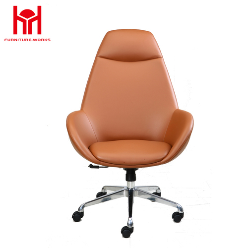 MIF Best Choice Executive PU Office Chair, Yellowish Brown