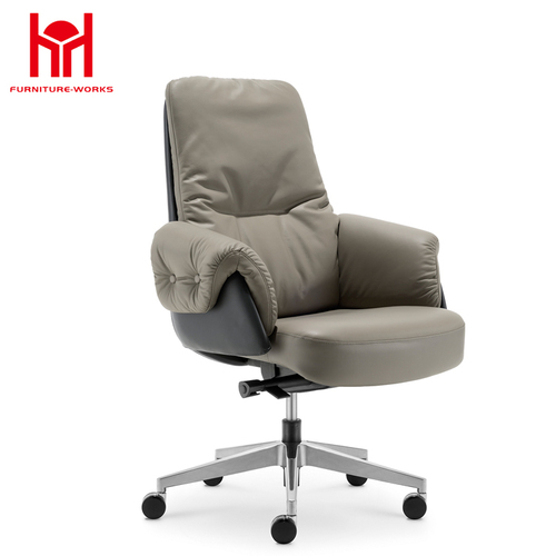MIF New High Back PU Leather Office Chair Ergonomic Executive Task Chair Swivel,Black