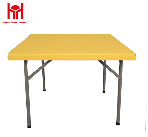 Yellow Square folding table