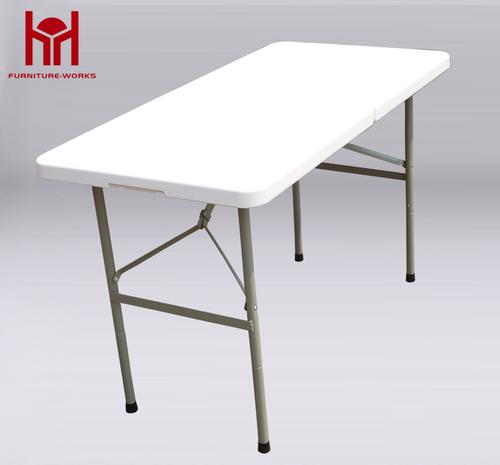 Granite White 4-Foot fold-in-half table