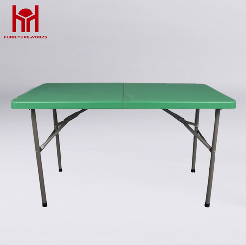Green 4-Foot fold-in-half table