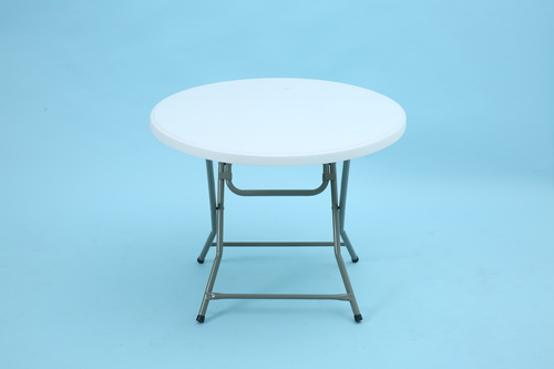 Granite White Round folding table