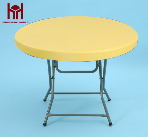 Yellow Round folding table