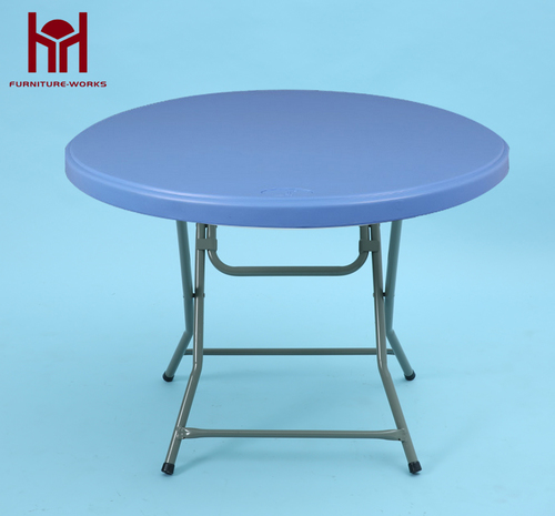 Blue Round folding table
