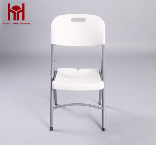 Optional style hdpe and steel white folding chair for room