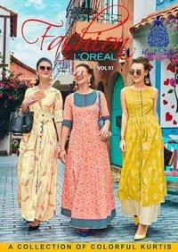 kajal style rayon cotton kurti