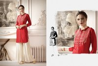 RAYON EMBROIDERED WORK KURTI FOR PARTY WEAR