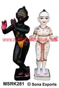 Marble Iskon Radha Krishna statue Murti Supplier
