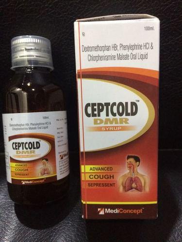 Dextromethorphan 15 mg.+Phenylephrine 5 mg.+ Cholrpheniramine 2 mg Syrup
