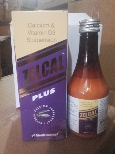 Calcium Carbonate 500 mg. +Vit.D3-200 IU Syrup