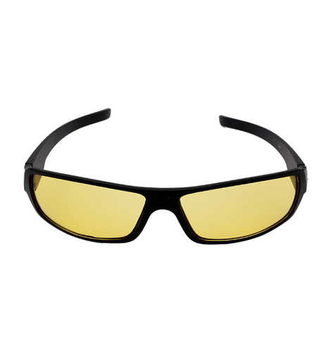 Mens yellow & black night vision sunglasses