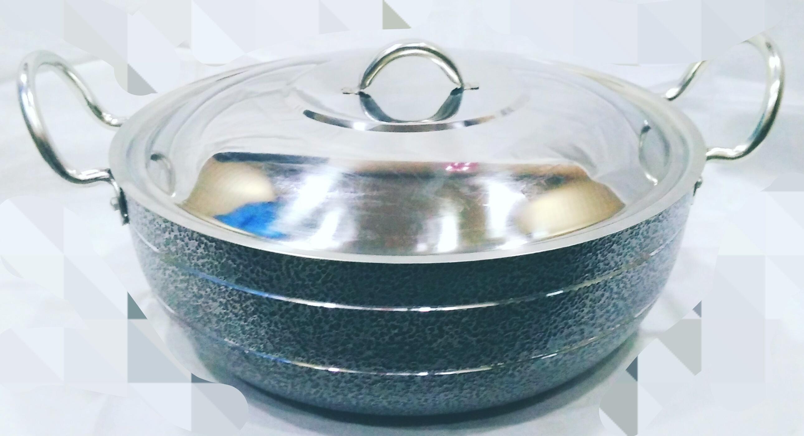 Aluminium Black Coating Kadai