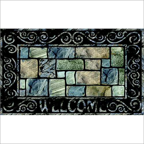 Flock Series Brick Door Mat