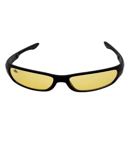 Mens black & yellow night drive sunglasses