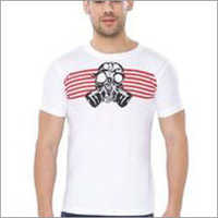 White Gas Mask Round Neck T-Shirts
