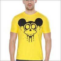 Yellow Mickey Round Neck T-shirt