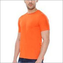 Orange Plain Round Neck T-Shirt