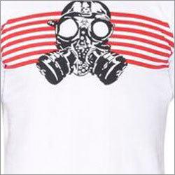 White Gas Mask Round Neck T-Shirts