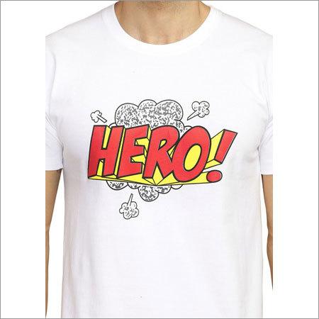White Hero Round Neck T-Shirt