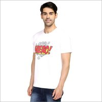 White Hero Round Neck T-Shirt