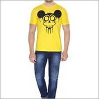 Yellow Mickey Round Neck T-shirt