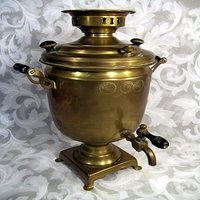 Imperial-Era Brass Coffee Urn