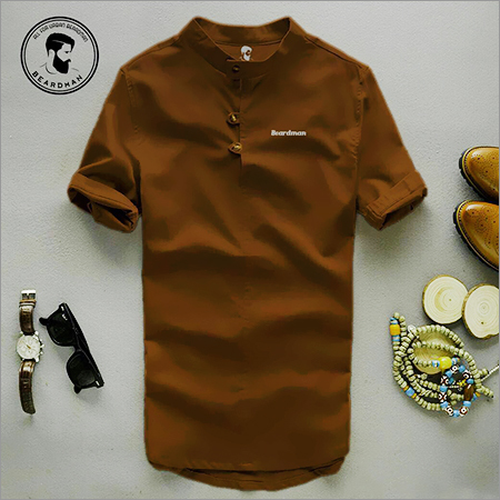 Chinese Collar Brow Shirt