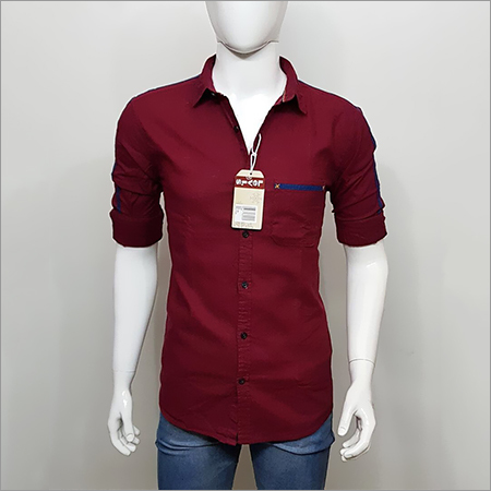 Brown Party Wear Shirt