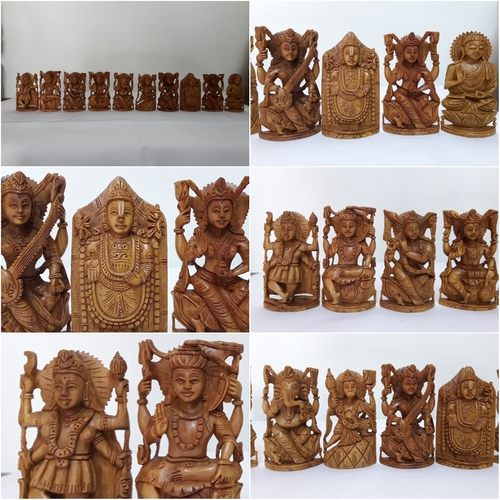 Sandalwood God Figure