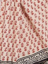 Sanganeri Bagru Print Cotton Mull Saree