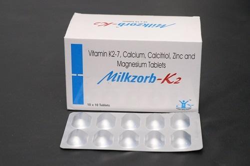Vitamin K2 7 Calcium Calcitriol Magnesium Zinc Tab Manufacturer